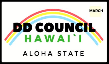 DD Council Hawaii (Aloha State) on Hawaii license plate
